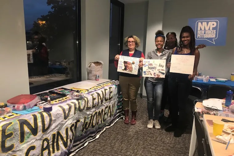 """The SistahSpeak! leadership council, part of Pittsburgh's New Voices for Reproductive Justice group, collaborated with Black Women For Positive Change on their """"Changing the Culture of Violence in America"""" nonviolence week, as part of their work to promote full physical and psychological health for young women."""