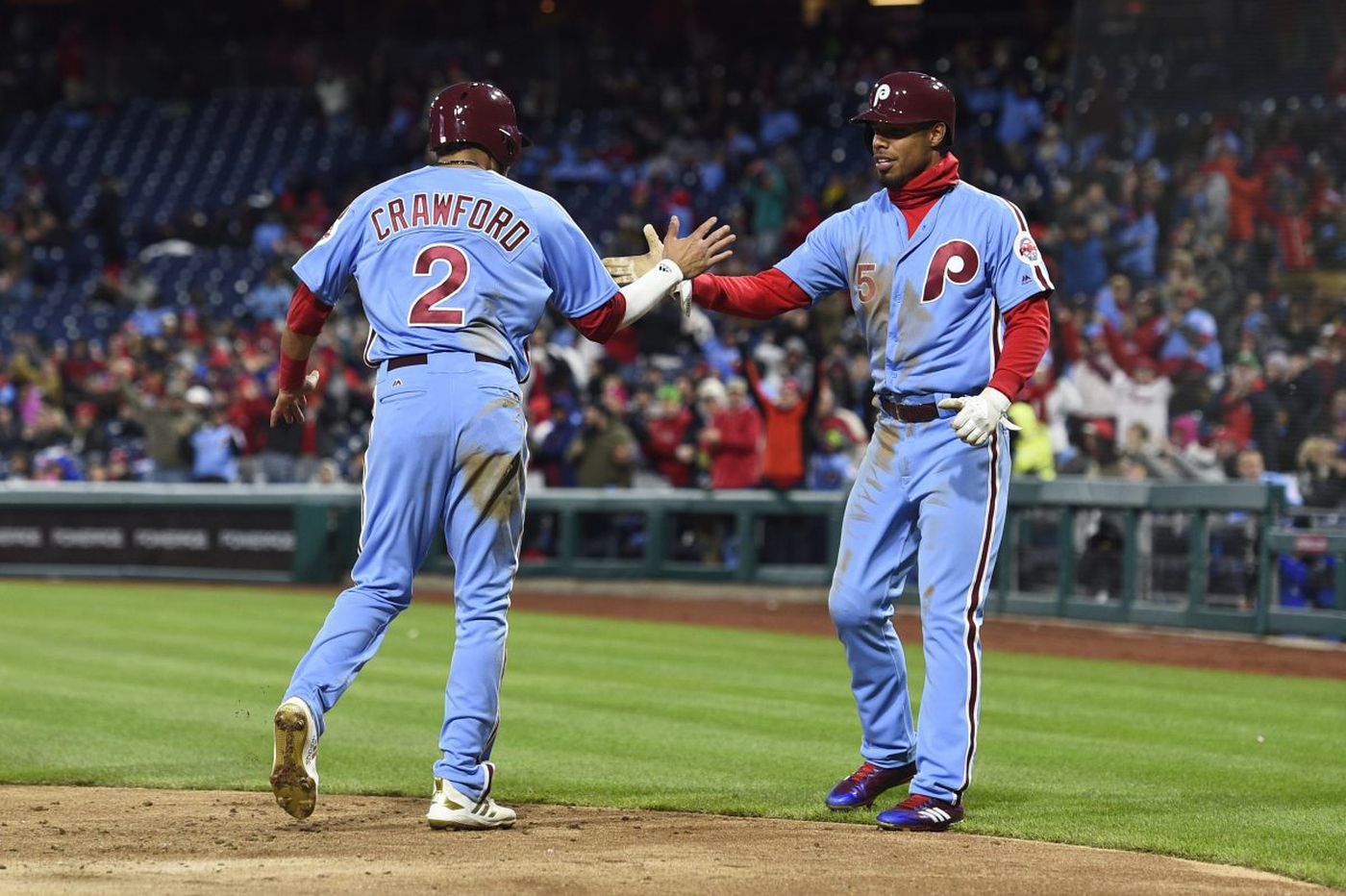'Bold' jump by Phillies' J.P. Crawford leads to a three-run single that took 'big stones'