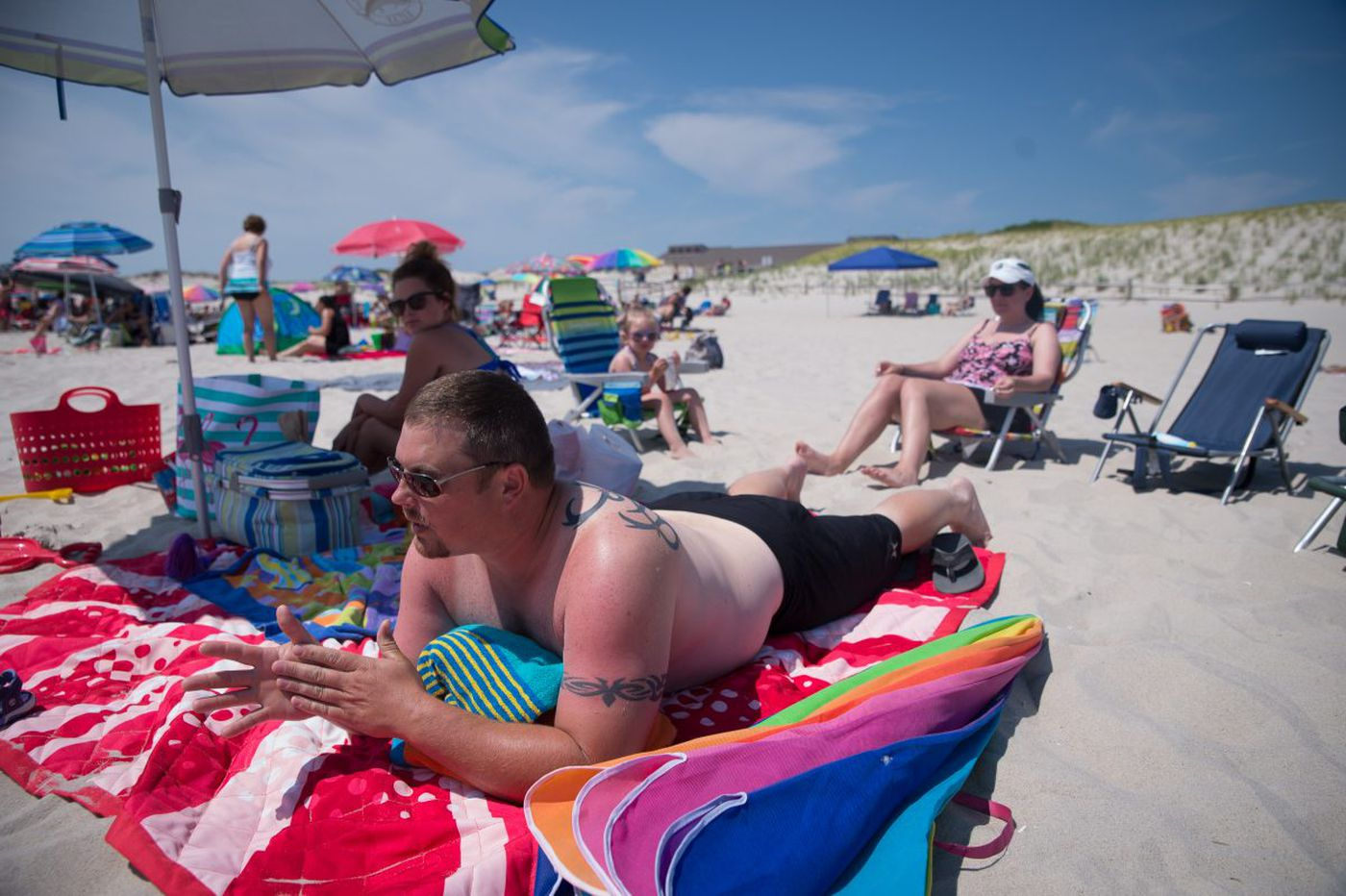 Back at the beach, with Christie still under their skin