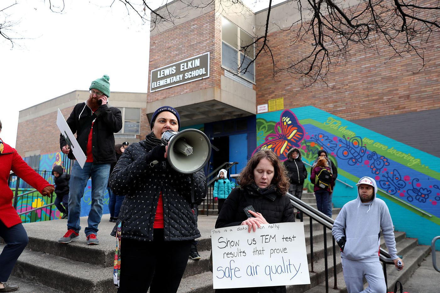 Teachers are refusing to enter a Philadelphia elementary school because of asbestos fears