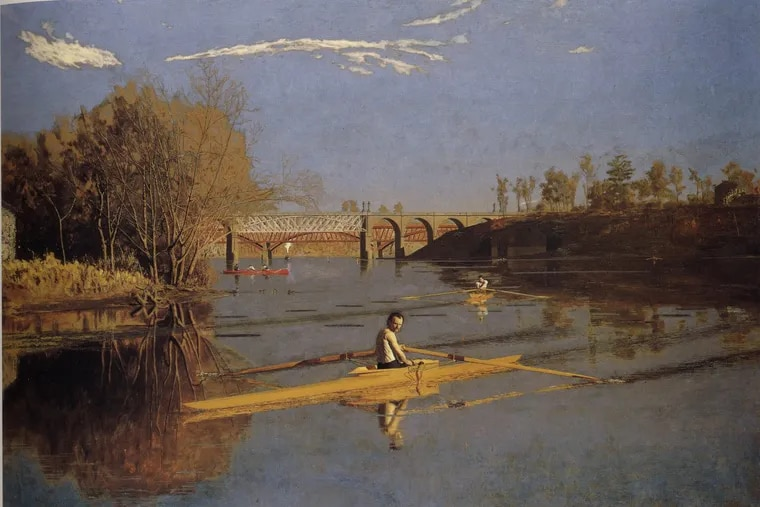 """Thomas Eakins' """"Max Schmitt in a Single Scull"""" (1871) is now at the Metropolitan Museum of Art."""