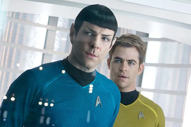 """Zachary Quinto, left, is Spock and Chris Pine is Kirk in the latest installment of """"Star Trek."""" (Photo / Zade Rosenthal, Paramount Pictures and Skydance Productions)"""