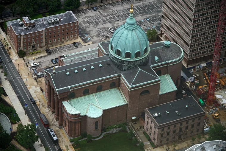 The Cathedral Basilica of SS. Peter and Paul, the seat of the Roman Catholic Archdiocese of Philadelphia, is pictured in Center City Philadelphia in May.