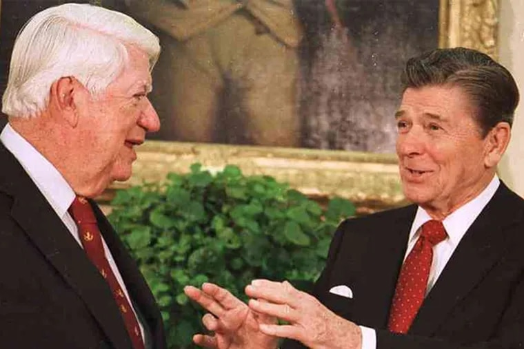 """In 1983, President Ronald Reagan and House Speaker Thomas P. """"Tip"""" O'Neill's Democrats agreed on Social Security changes that helped keep the system solvent. Now its trustees say the nation is in danger of spending down its reserves, forcing possible benefit cuts"""