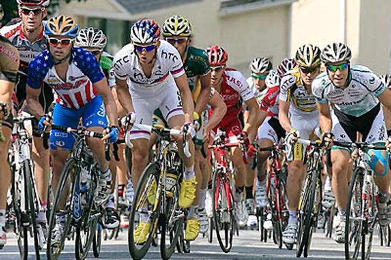 The 2011 Philadelphia International Cycling Championship is set for Sunday morning in Manayunk. (Akira Suwa/Staff file photo)