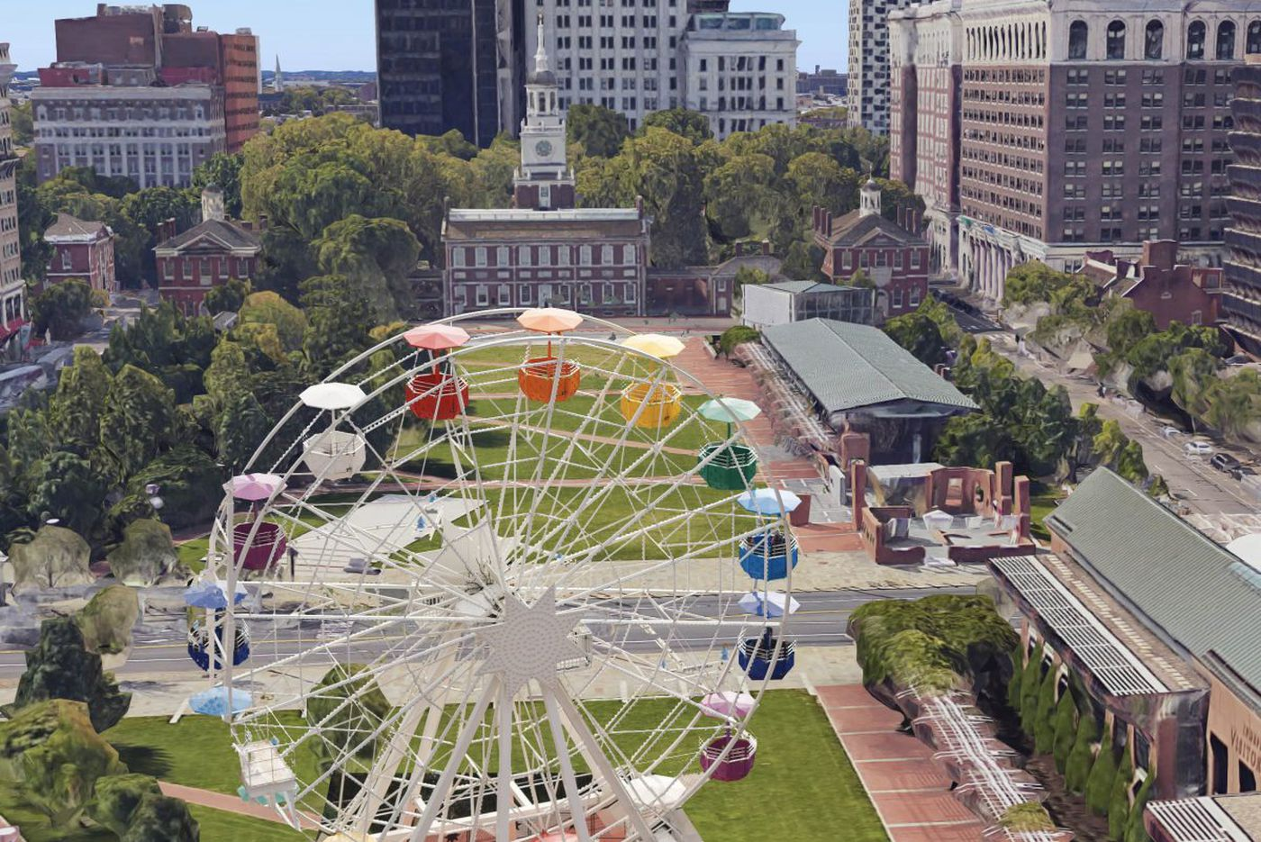 A Ferris wheel and robots for Independence Mall? Why not? | Stu Bykofsky