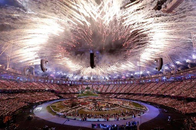 In this Friday, July 27, 2012, file photo, fireworks explode during the Opening Ceremony at the 2012 Summer Olympics, in London. (AP Photo)