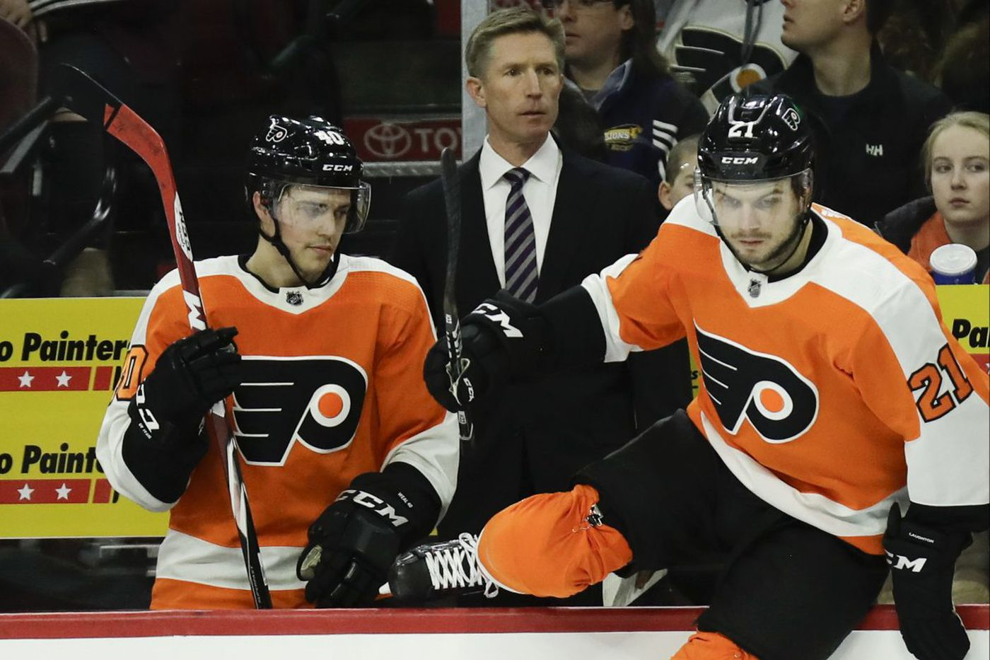 Flyers' coach Dave Hakstol's line reads have kept his team afloat