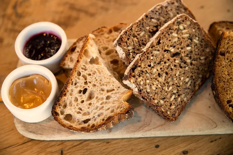 The bread tasting platter at High St. on Market.