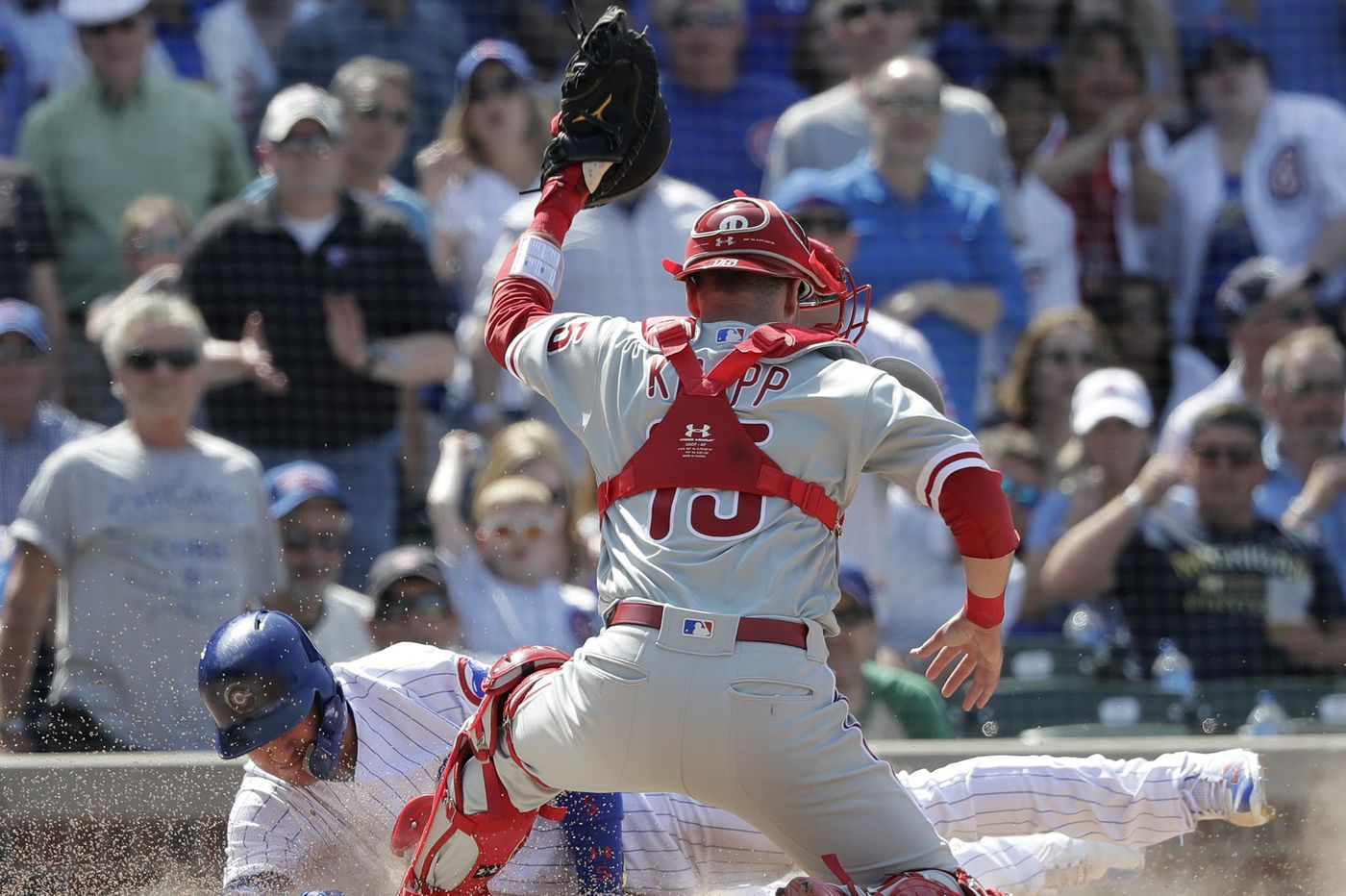 Phillies doomed by overturned call at the plate, lose to Cubs in finale of tough road trip