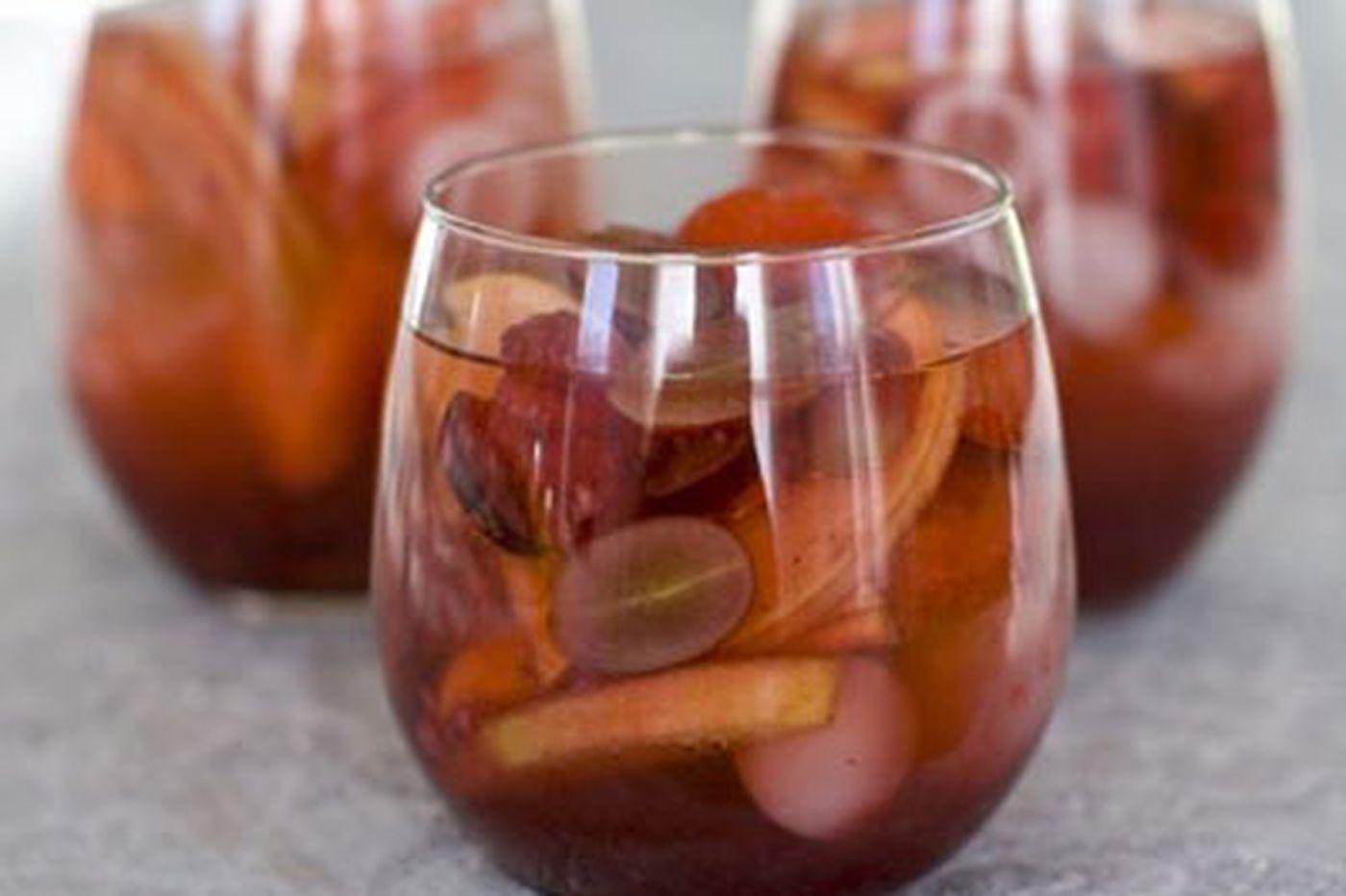 Chef's no-alcohol sangria is a festive, healthful choice