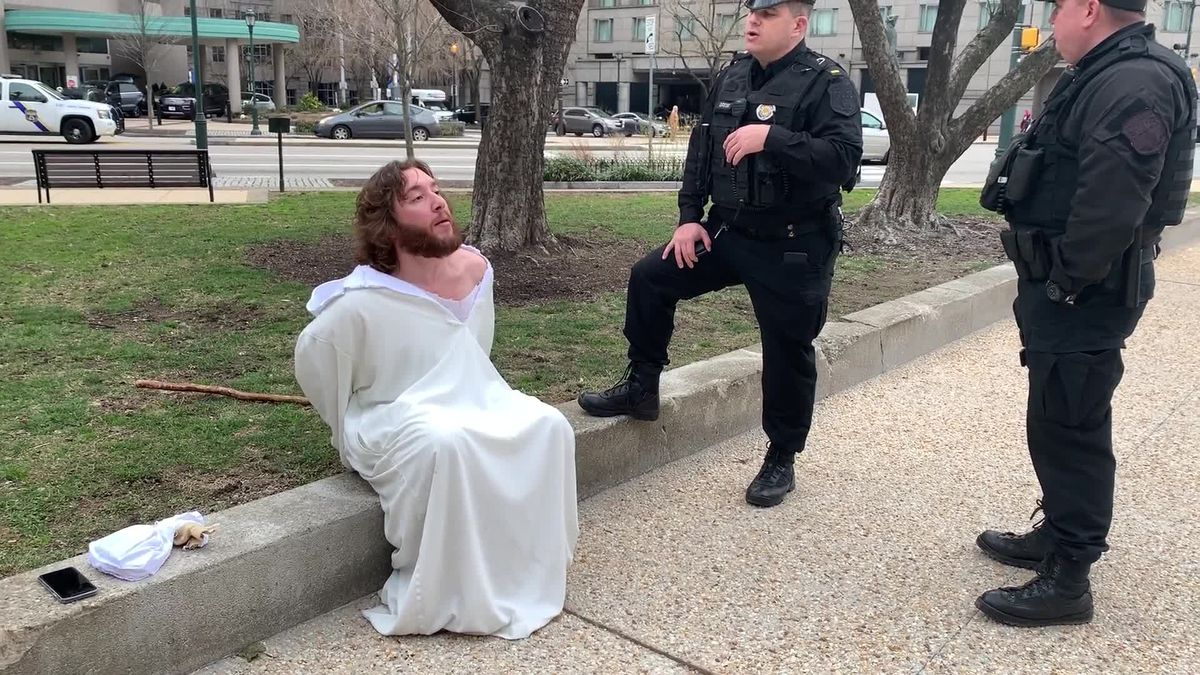 Philly Jesus is cited for trespassing during the installation of Archbishop Nelson Perez