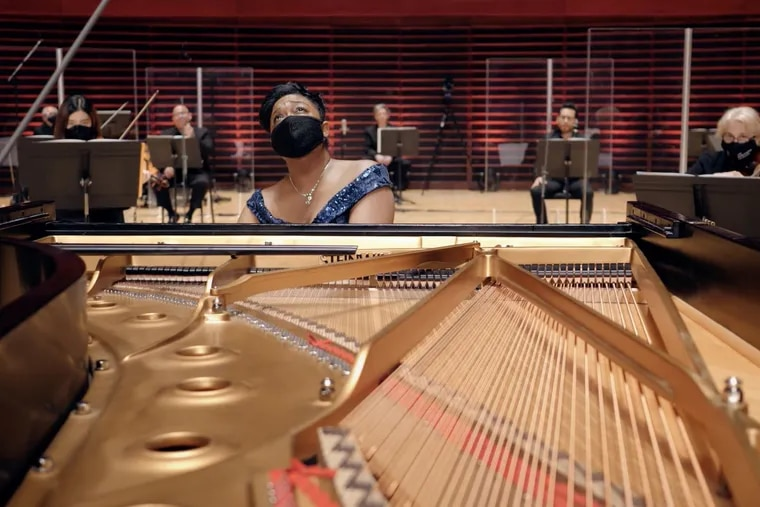 Pianist Michelle Cann playing the Florence Price 'Piano Concerto' with the Philadelphia Orchestra in a Digital Stage presentation