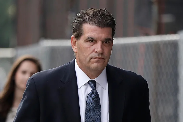 Fort Lee Mayor Mark Sokolich arrives at the Martin Luther King Jr. Federal Court for a hearing Tuesday, Sept. 20, in Newark, N.J.
