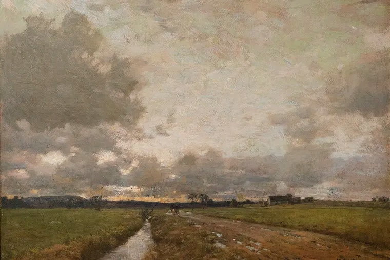"""Detail from William Langson Lathrop's """"Twilight After the Storm,"""" (1900-05)"""