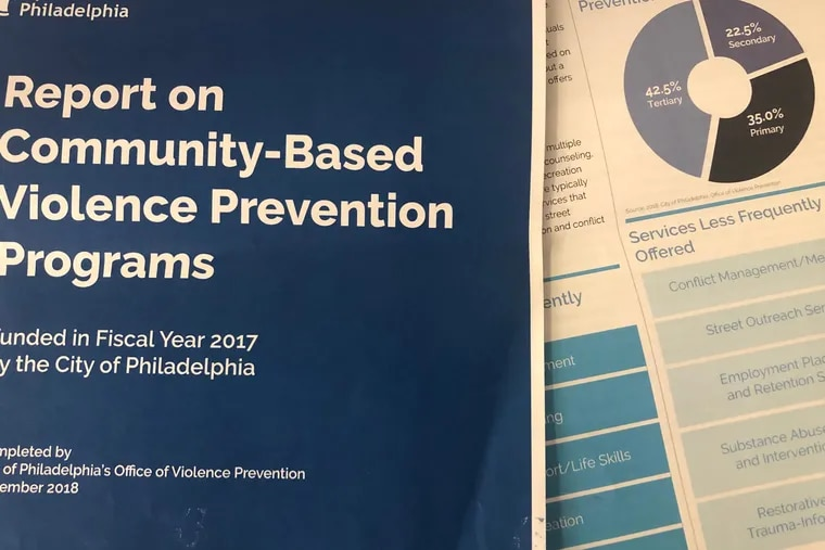 The city's latest report on community-based violence prevention programs.