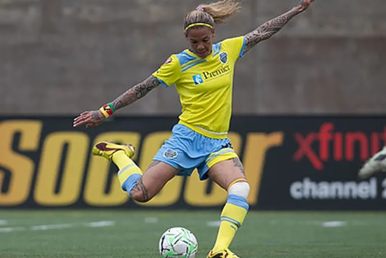 Natasha Kai scored for the Independence in their 1-1 tie with Boston on Sunday. (Andrew Kastampes/ISI Photos)