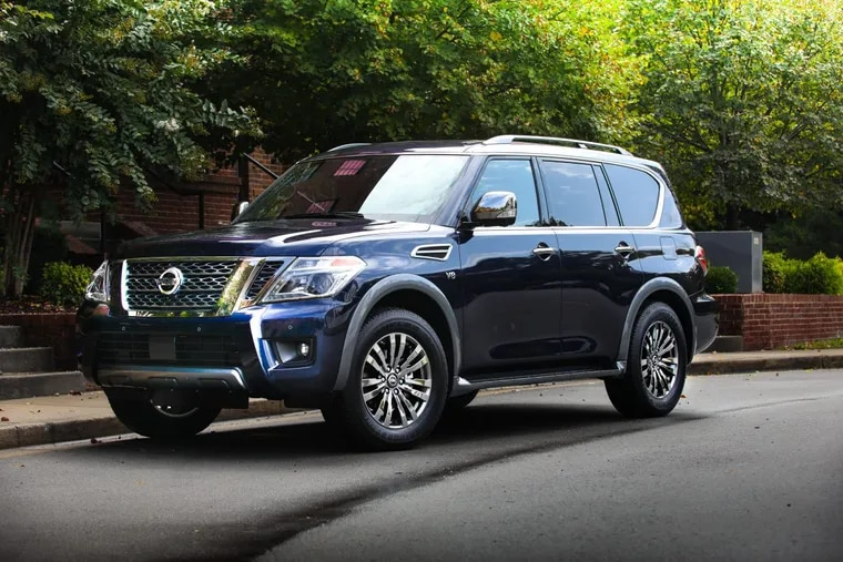 The 2018 Nissan Armada, priced at $63,545, has a 5.6-liter V-8 engine that cranks out 390 horses — only slightly less than the Yukon XL's 420 — but the power was difficult to harness.