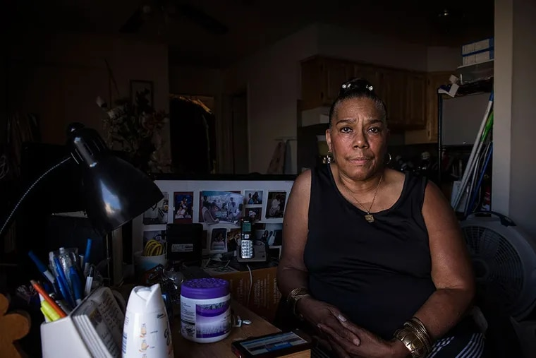 Elaine Ravenell's son Farris, charged with punching a bus driver, will meet with the pope. She lives in the Northeast. (CHARLES MOSTOLLER/For The Inquirer)
