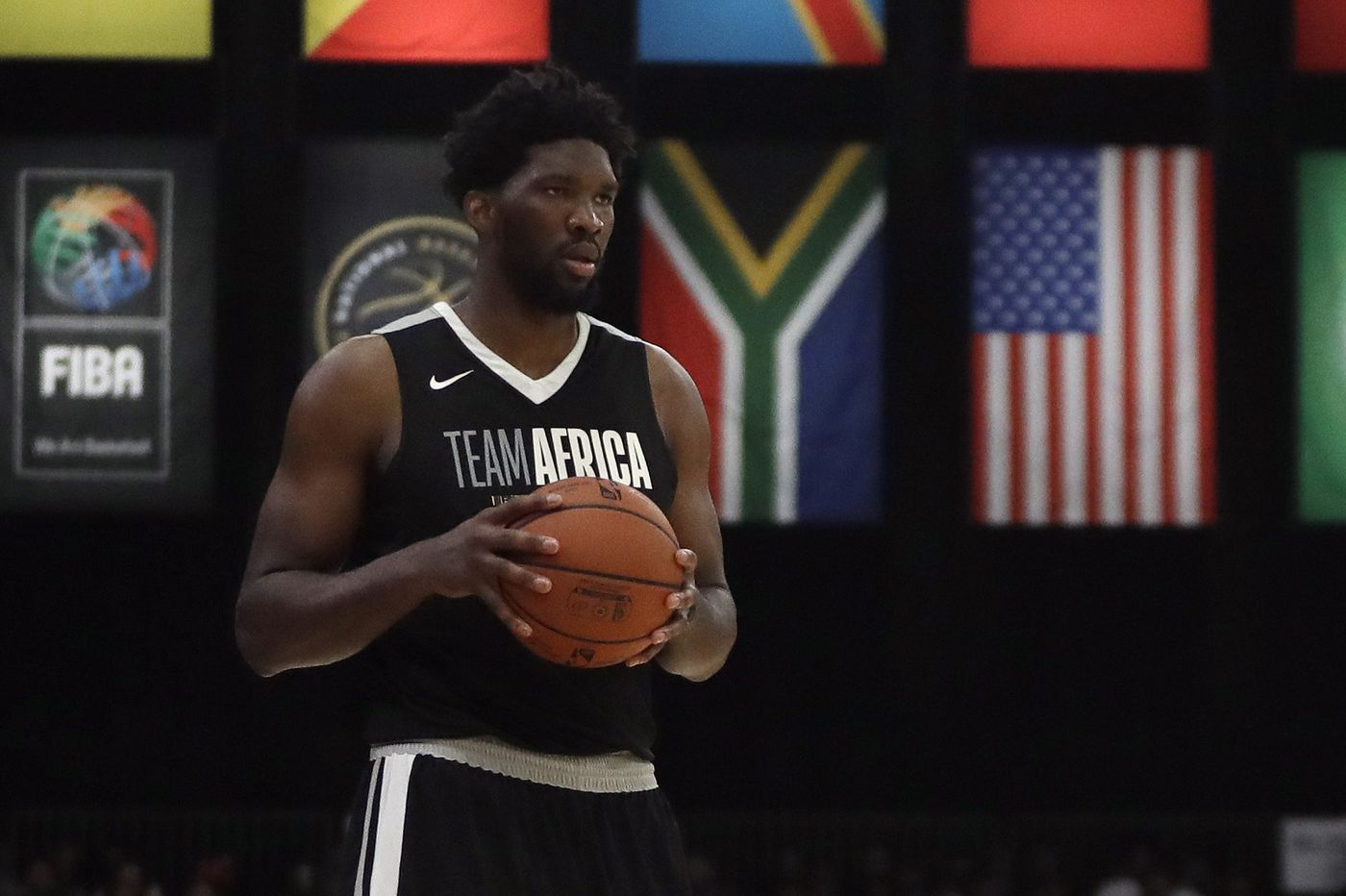 Joel Embiid plays with animals, gets bit by lion cub in South Africa
