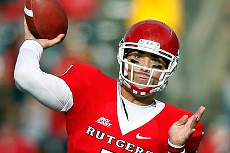 Former Cardinal O'Hara quarterback Tom Savage is transferring from Rutgers to the University of Arizona. (Mel Evans/AP file photo)