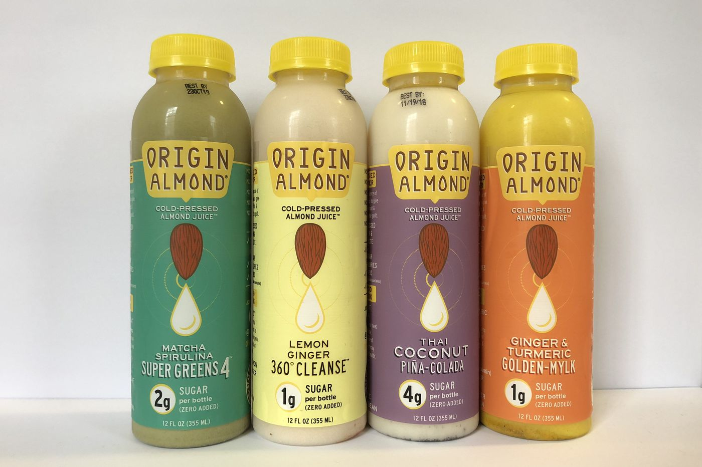 Made from almonds, juices that taste like lemonade or piña coladas