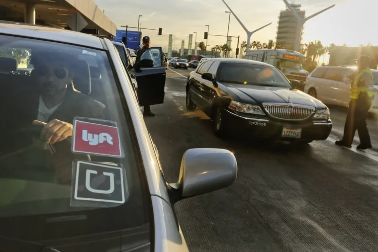 A driver for Uber and Lyft in Los Angeles. Hundreds of drivers are on strike in Los Angeles, protesting a 25-percent cut to their pay per mile.