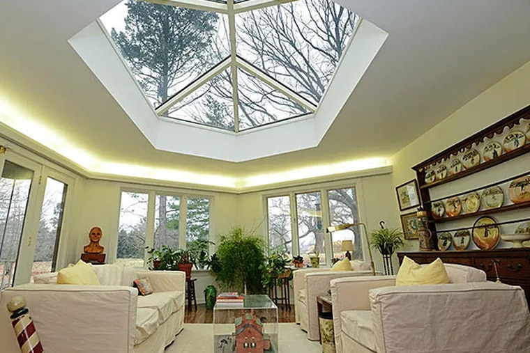 This unique hexagonal home in Wynnewood, which was designed by Henry Magaziner, is on the market for $1.4 million.