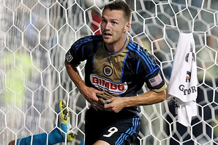 Jack McInerney, the Union's top forward, has struggled to find the net in recent weeks. (Ron Cortes/Staff file photo)