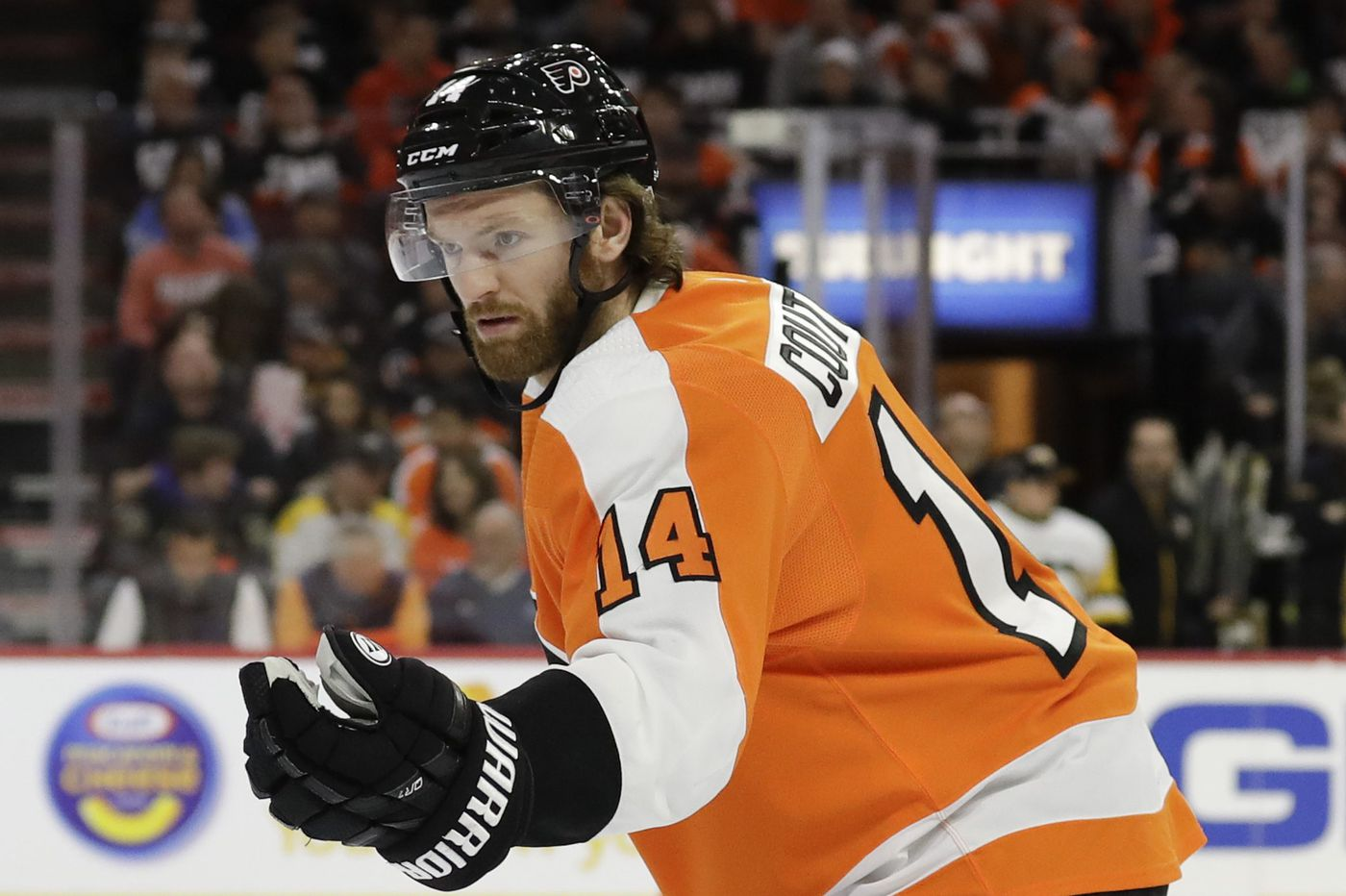 Flyers' Sean Couturier making strides in recovery
