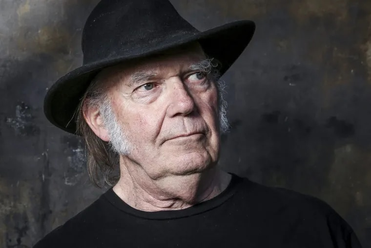 In this May 18, 2016, file photo, Neil Young poses for a portrait in Calabasas, Calif. Young announced on Nov. 11, 2017, he would open his vast archive of music for anyone to listen to online for free next month.