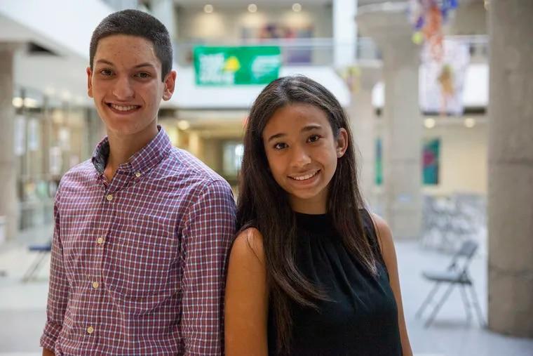Alfredo Pratico, left, and Julia Frank are the new student members of Philadelphia's school board.