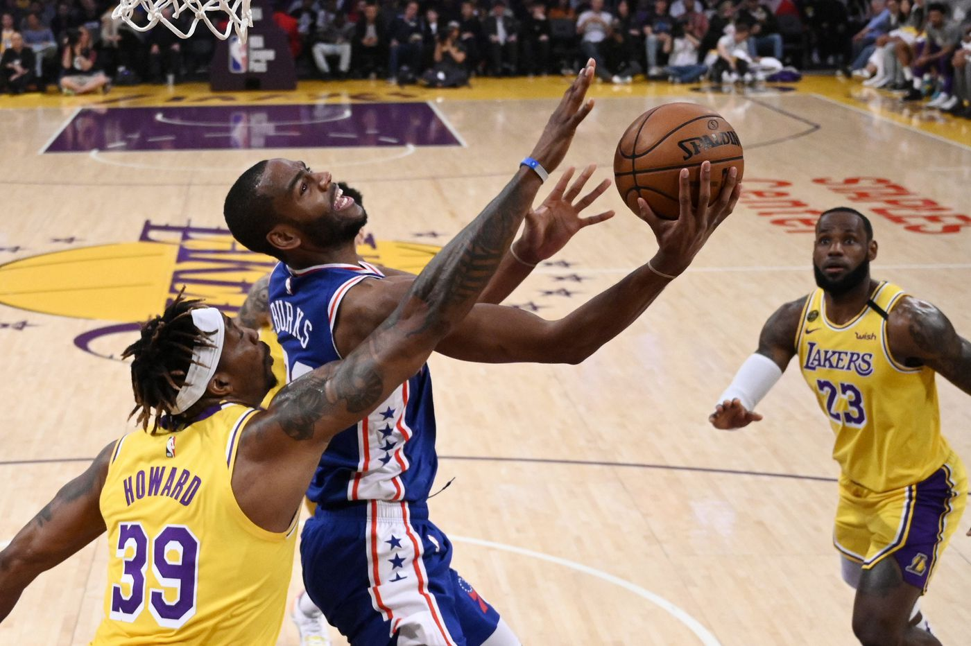 Anthony Davis, LeBron James too much for undermanned Sixers as Lakers roll, 120-107