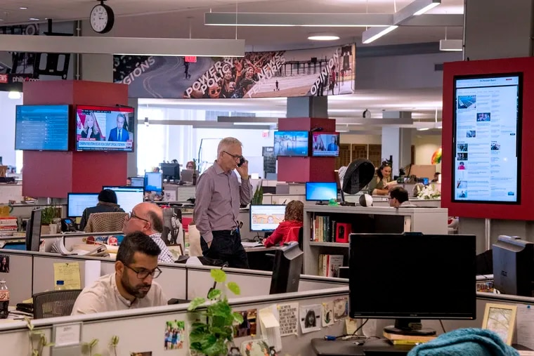The Philadelphia Inquirer is one of the news organizations that has reached a deal with Facebook for licensing fees for its content. This is its newsroom in Center City.