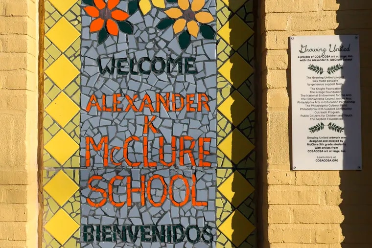 The Philadelphia School District's handling of asbestos repairs at Alexander McClure Elementary has led to a lawsuit against it by the Philadelphia teachers' union.