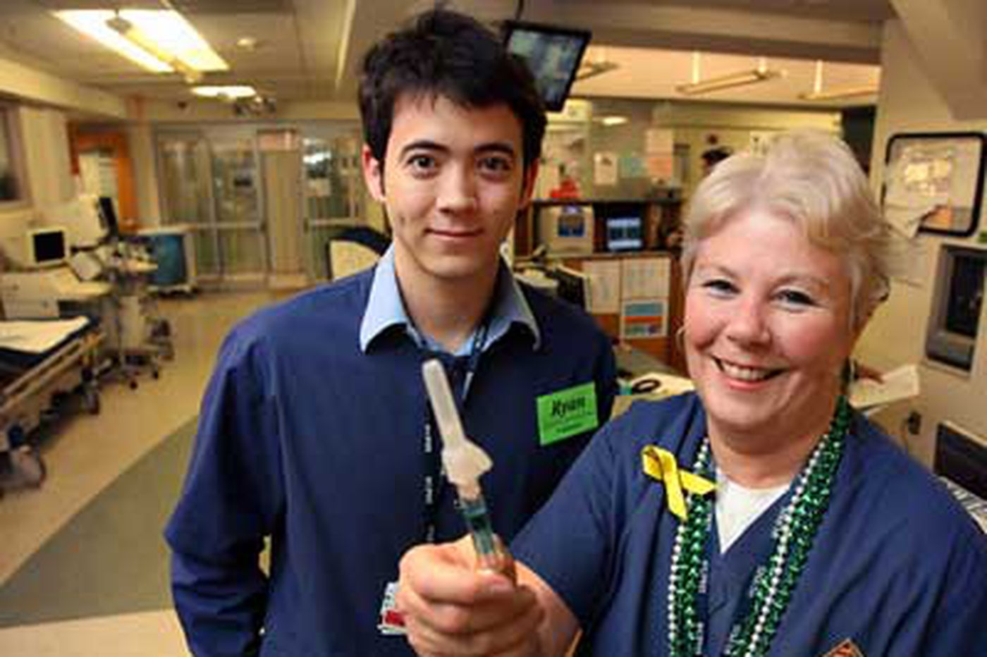Hospital tries doo-wop to push flu shots