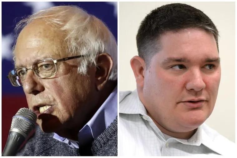 Sen. Bernie Sanders (left) has endorsed Rich Lazer (right) for Congress in Pennsylvania's Fifth District.