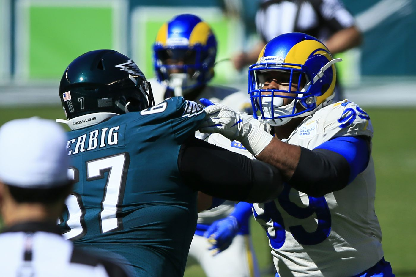 Eagles move Nate Herbig to left guard, and his view is don't make excuses, don't let the team down