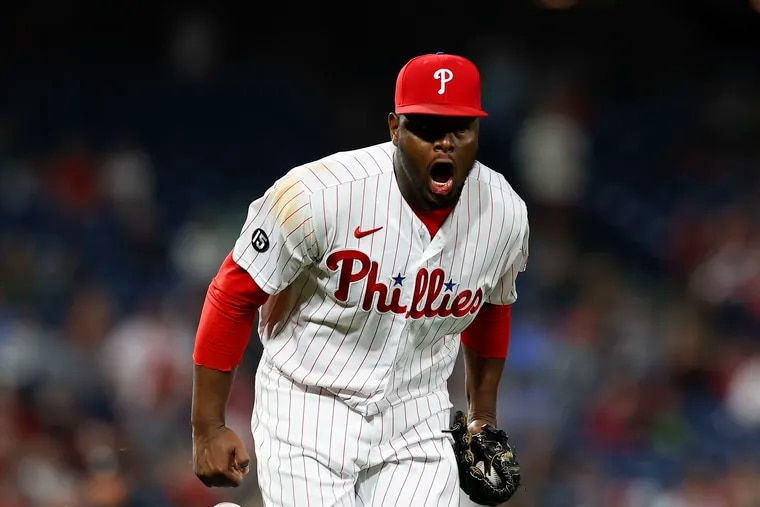 Héctor Neris has 517 career strikeouts, two shy of Ron Reed's all-time mark for Phillies relievers.