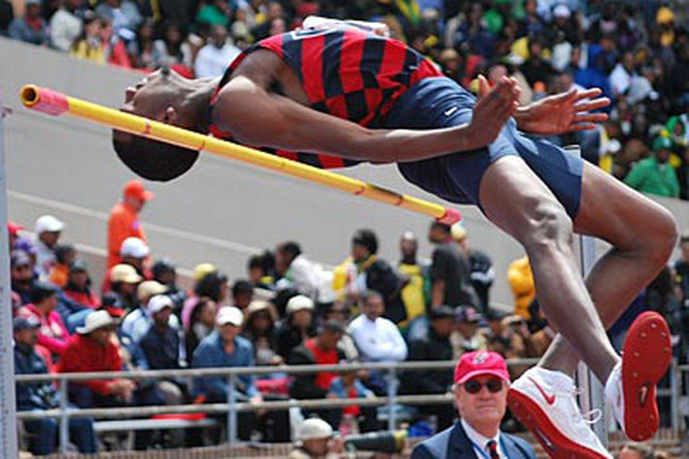 Quaker wins high jump