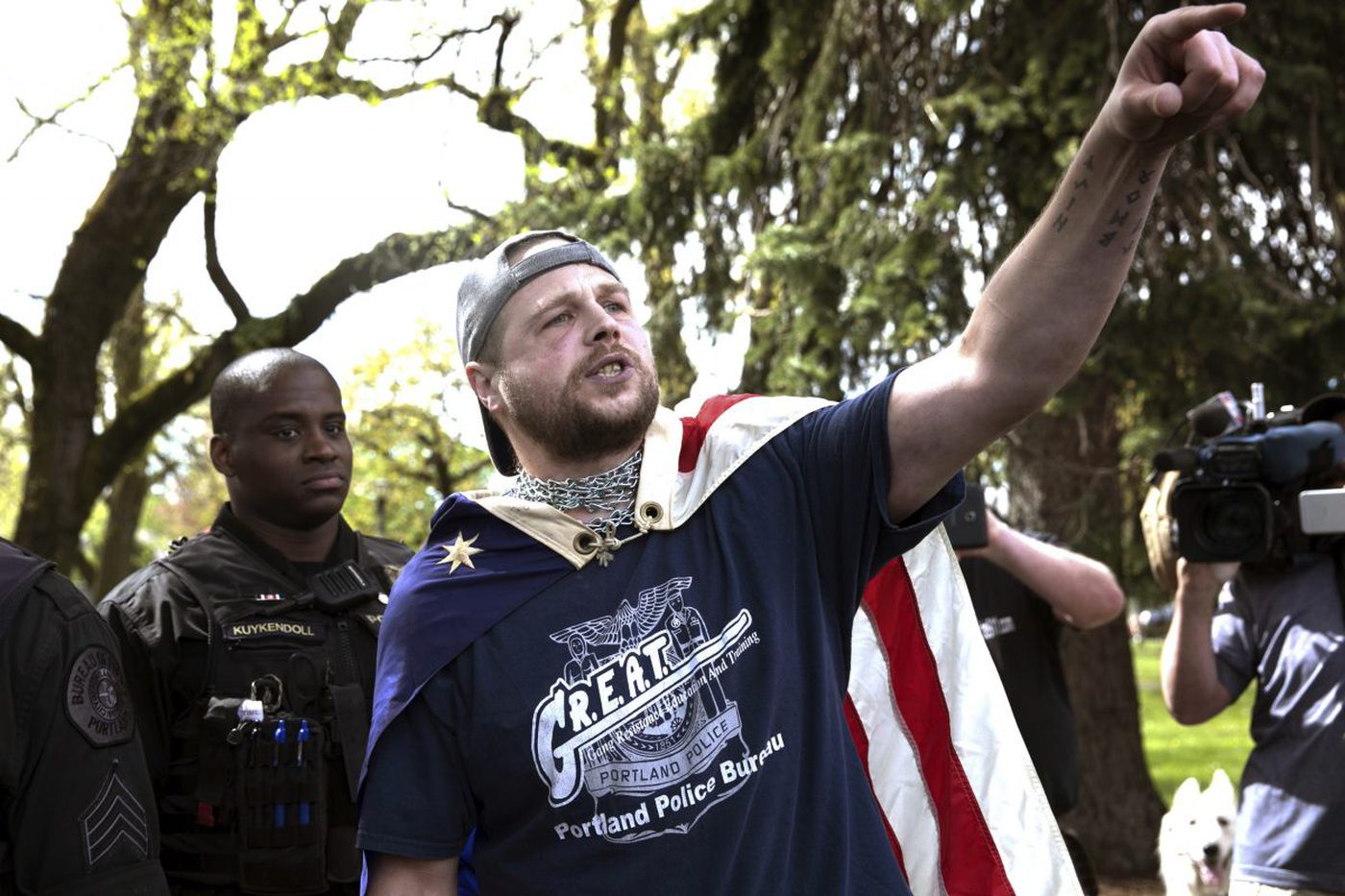 Who radicalized white supremacist arrested in Portland attack?