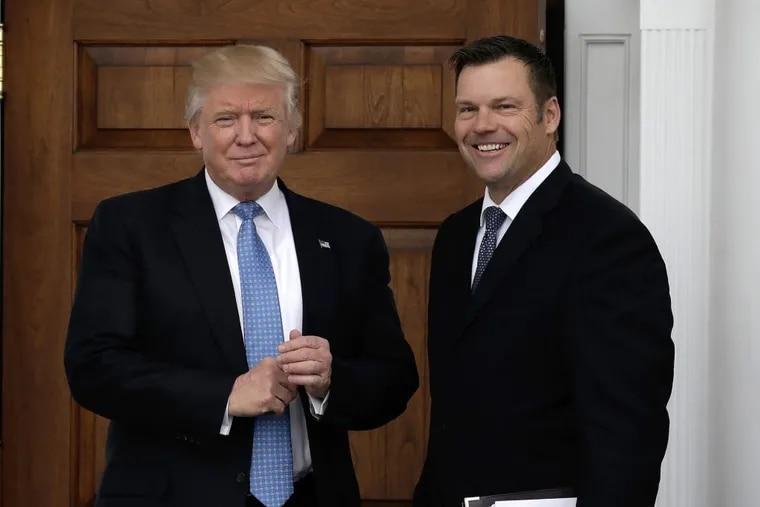 President Trump chose Kris Kobach, the Kansas secretary of state, to head his voter fraud commission.