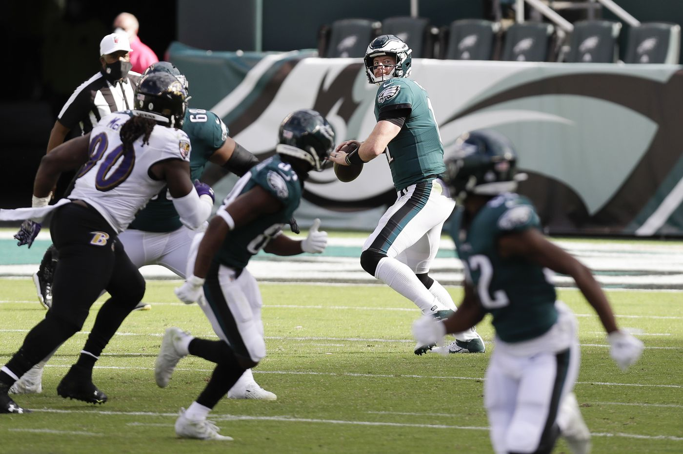 Carson Wentz shrugs off the hits, and gathers his depleted forces to face the Giants on Thursday