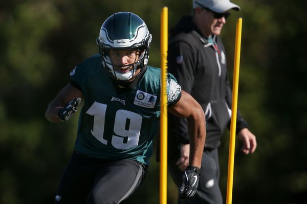 Golden Tate's been chased since he was a baby. Now, he's a key part of the Eagles' playoff chase