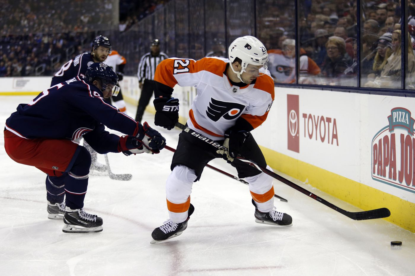 Flyers face Blue Jackets in Columbus, their house of horrors; James van Riemsdyk hits milestone