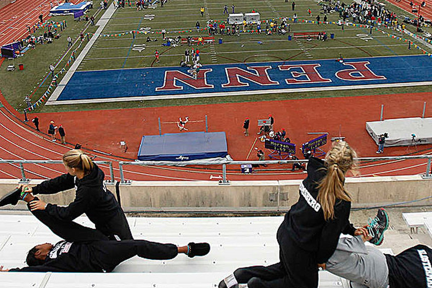 One test at Franklin Field: The Penn Relays hubbub