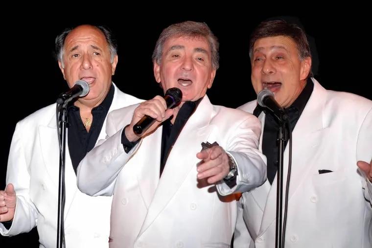 Joe Terranova (center) sings with Frank and Bobby Maffei in doo-wop group Danny & the Juniors.