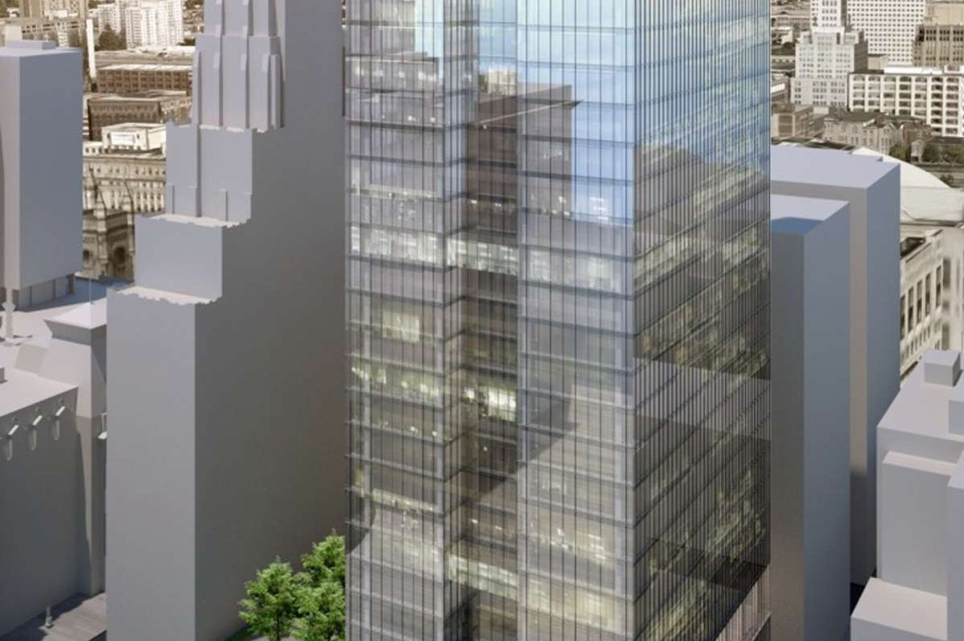 Office tower planned at long-empty lot near Philadelphia City Hall
