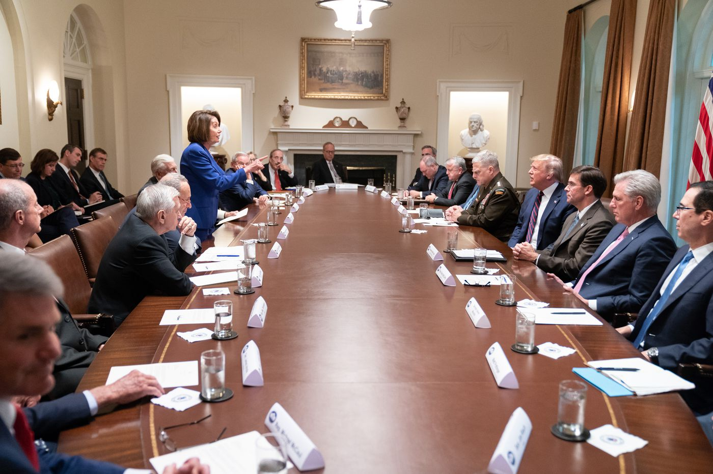 That Pelosi Twitter picture with Trump: Can we have some more of that? | Maria Panaritis