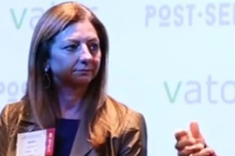 Brenda Smith at a Post-Seed Conference panel in San Francisco, December 2016.